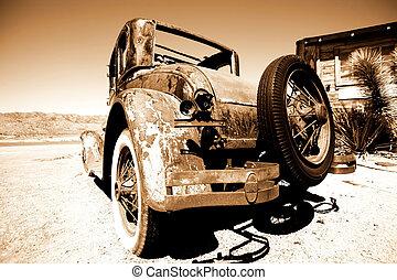 自動車, アメリカ人, レトロ, フォード