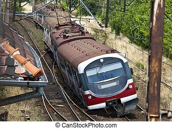 Train derailment - Derailed electric multiple unit EMU