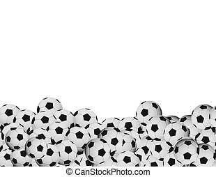 soccer balls - soccer background and copyspace