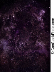 Small part of an infinite star field of space in the...