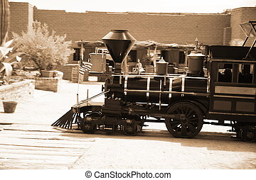 old vintage steam train
