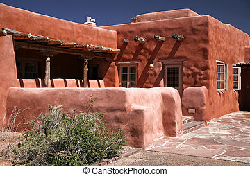 Adobe house, pueblo