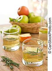Apple juice with Rosemary - Fresh Apple juice with Rosemary...