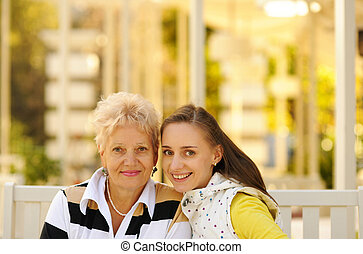 Happy mother and daughter - Mother and daughter having a...