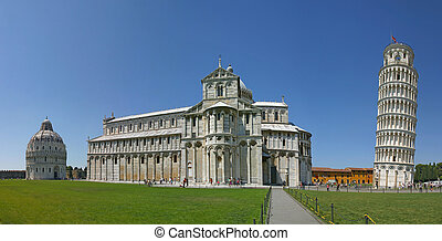 Cathedral of Pisa - Cathedral and leaning tower of Pisa,...