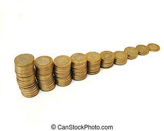 money stairs - isolated money image