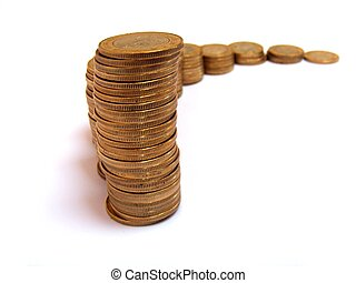 pesos mexicanos - isolated 10 pesos coins