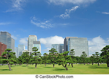 Tokyo Skyline - Scenic view of Tokyo, buildings near...