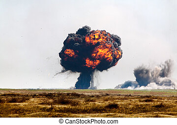 Big ball of fire. - The explosion of deadly shells during...