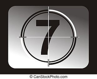seven - number seven background