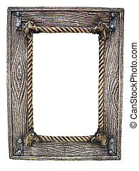 Wood frame with horse details - Wood frame with horse...