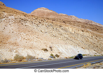 The Judean Desert Israel - A desert road in the Judean...