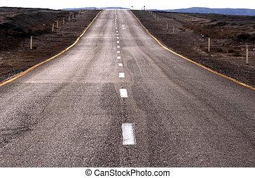 Empty road in the desert
