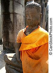 Monuments of buddah, ruins of Ayutthaya, old capital of...