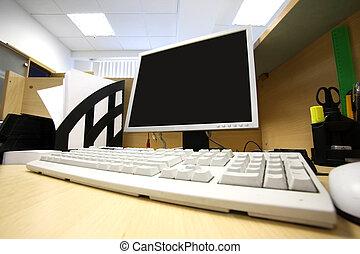 工作, 地方, 辦公室, 電腦