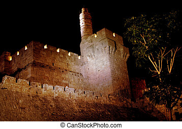 The Tower of David in Jerusalem - The Tower of David or King...