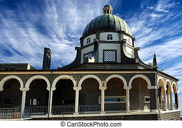 Mount of Beatitudes - Israel - The Roman Catholic chapel at...