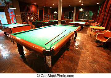 classical billiards room for games