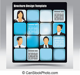 Brochure Template - Business themed brochure template with...