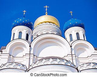 Transfiguration Cathedral in Nicolo-Ugreshsky monastery near...