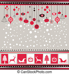 Decorative Winter Background - Winter background with...