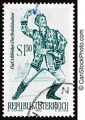 Postage stamp Austria 1970 The Beggar Student, Operetta -...