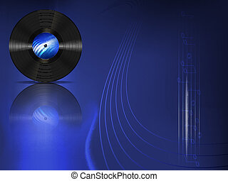 vinyl record - vector music background with vintage vinyl...
