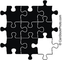 blank piece - puzzle with blank piece