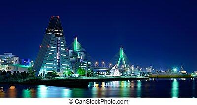 Aomori City - Skyline of Aomori City in Aomori Prefecture,...