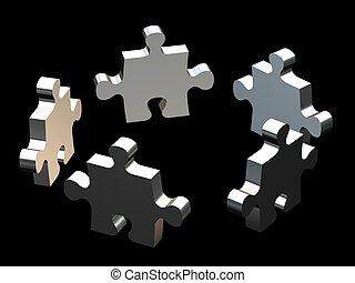 puzzle team on black