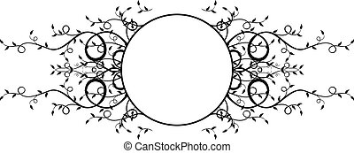 circle plants frame - circle frame with plants