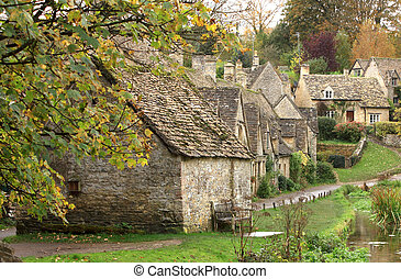 The Weavers cottages of Arlington Row - A view of the row of...