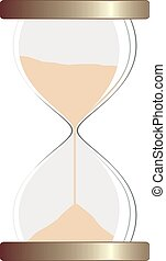 hourglass - ilustration of isolated hourglass