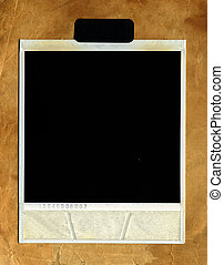 retro Photo Frame against old paper