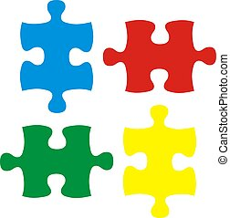 isolated puzzles - puzzle pieces, image applicable to...