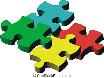 puzzle colors - puzzle pieces, image applicable to several...