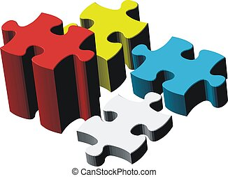 gowing puzzle - puzzle pieces, image applicable to several...
