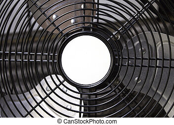Metal fan blades, instrument to cool