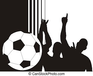 soccer bg - soccer ball background with copyspace