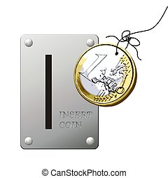cheat coin - the old trick of the coin with cord