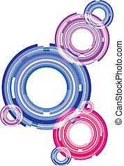 Round vector background