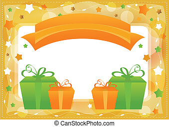 Greeting card, vector template
