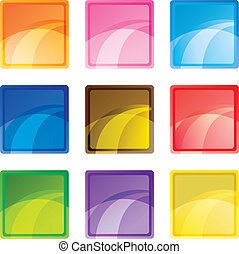 9 colored square buttons