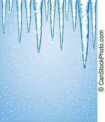 icicles - an illustration of a row of icicles in winter with...