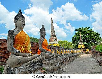 The Image of Buddha with Nice Sky