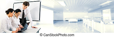 Corporate work - Image of confident businessman standing by...