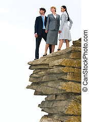 Business group - Vertical image of several business people...