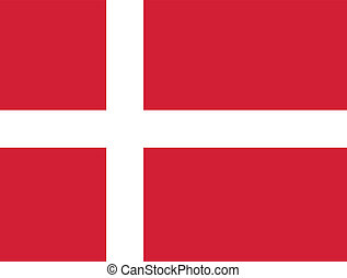 Flag of Denmark vector illustration
