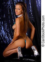 Sexy girl posing in micro bikini