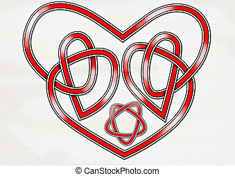 Celtic Heart Knot - An original Celtic knot in the form of a...